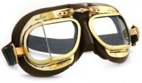 Halcyon Eyewear - Mk49 Antique Leather Scooter Goggles