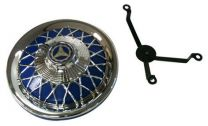 Vespa Chrome Spoke Wheel Trim - Blue - 10inch