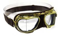 Halcyon Eyewear - Compact Antique Leather Scooter Goggles