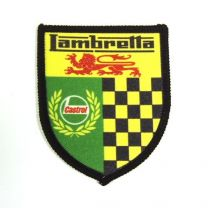 Lambretta Castrol Shield Sew on Badge