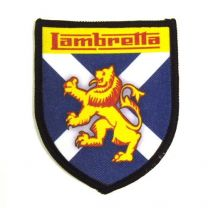 Lambretta St Andrews Cross Shield Sew on Badge