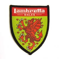 Lambretta Welsh Shield Sew on Badge