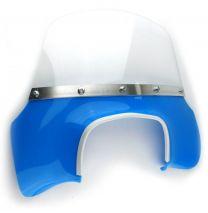 Lambretta Flyscreen - Transparent Blue GP Mod