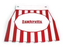 Lambretta Mudflap - Red Striped