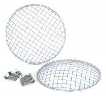 Headlight Stoneguard Mesh Stainless Steel - 7Inch