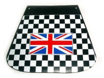 Union Jack Flag Mudflap - Black Chequered