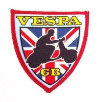 Vespa Union Jack Shield Sew on Shield