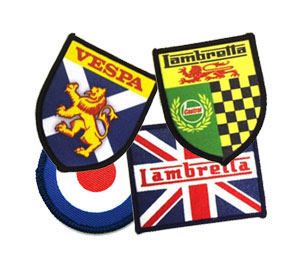 Lambretta, Vespa Scooter Sew On Patches